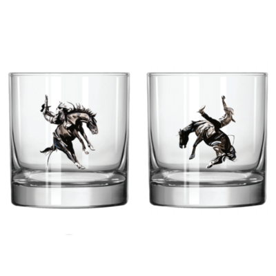 The Will Hunter Line by Head West Will Hunter Whiskey Glasses (Set of 2)