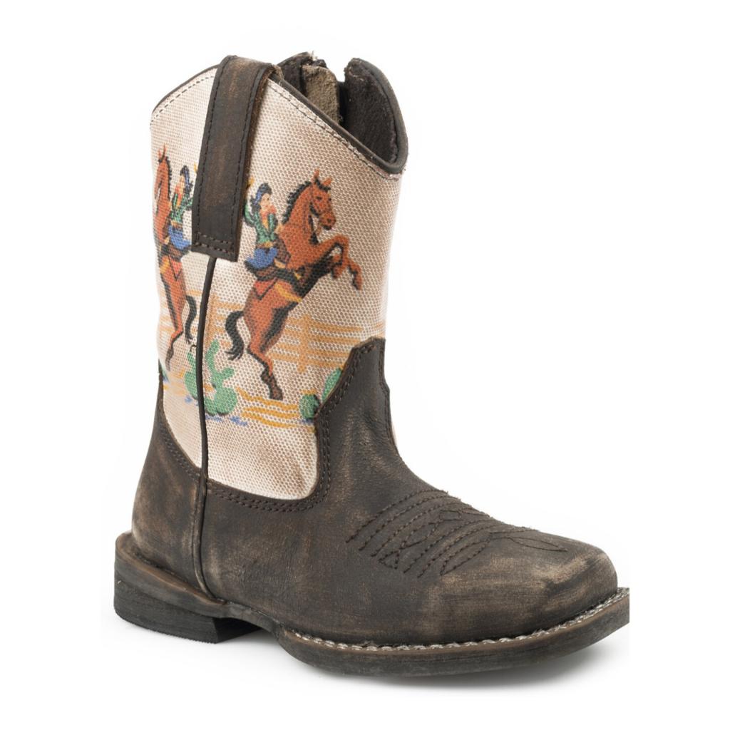 Kids Vintage Rodeo Scene Boots