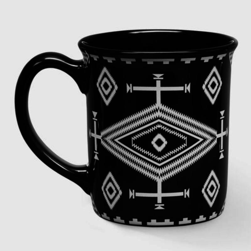 Pendleton 18 oz Ceramic Mug in Los Ojos Black