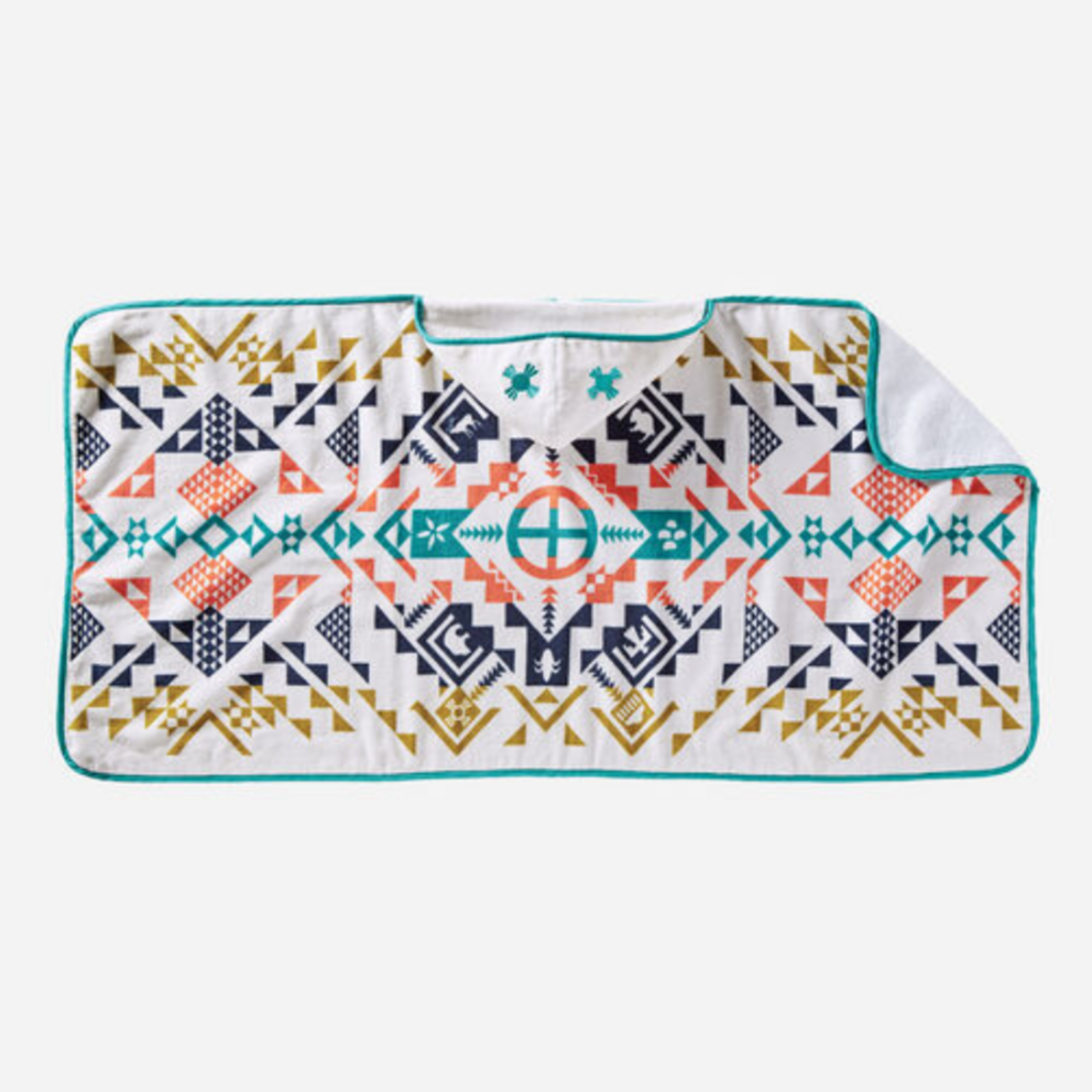 Pendleton Printed Hooded Baby Towel in Shared Spirits Ivory