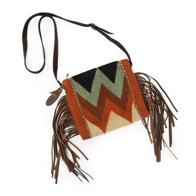 Manos Zapotecas Mountain Chevrons Fringe Bag