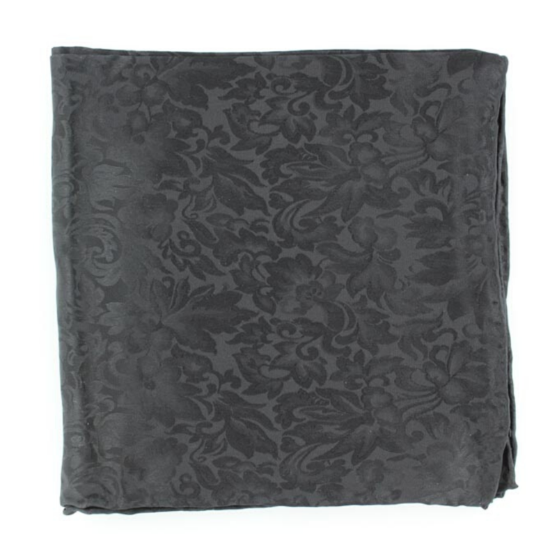 Jacquard Silk Scarf Black
