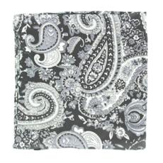 M&F Western   Black Paisley Silk Scarf