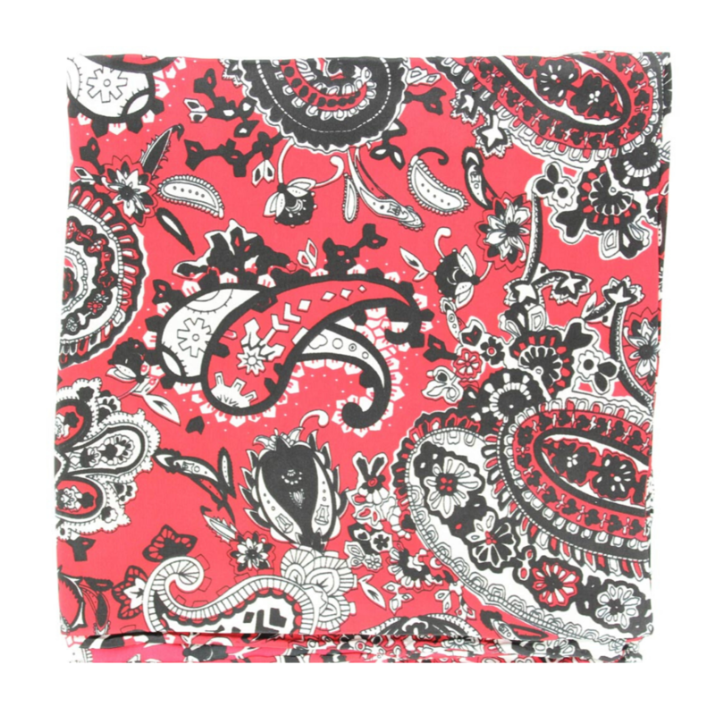 M&F Western | Red Paisley Silk Scarf