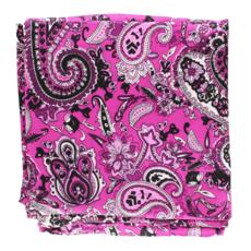 M&F Western   Pink/Purple Paisley Silk Scarf