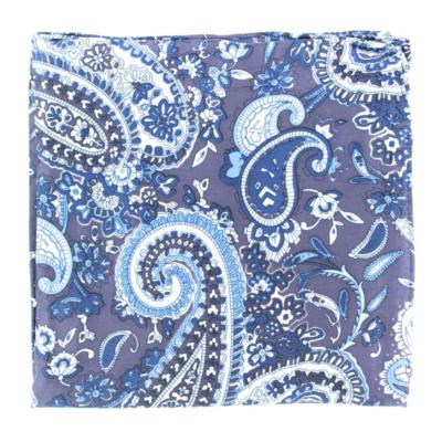 Blue Paisley Wild Rag