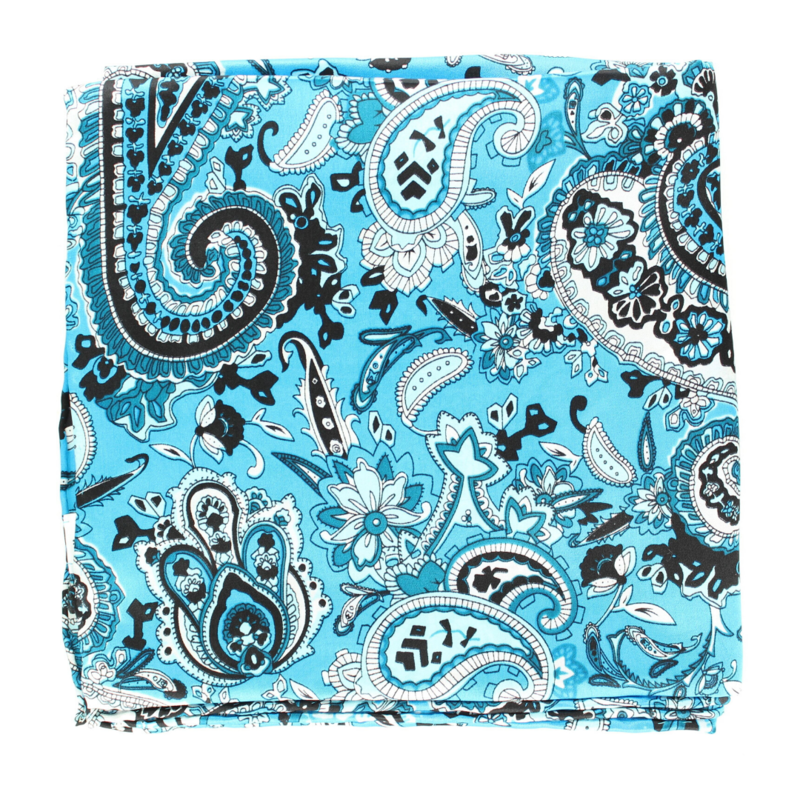 Turquoise Paisley Wild Rag