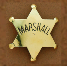 M&F Western   Marshall Badge