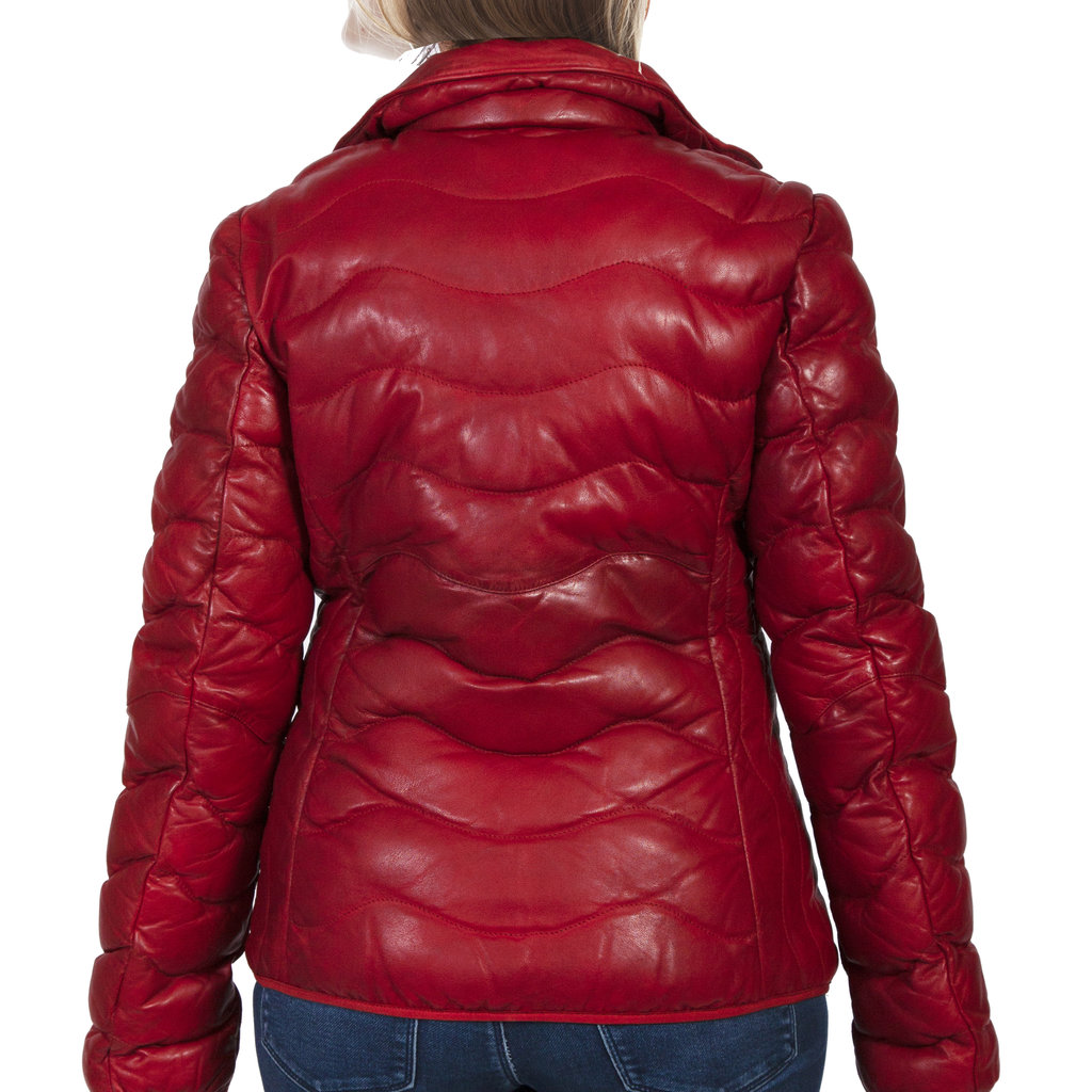 Scully | Ribbed Leather Jacket