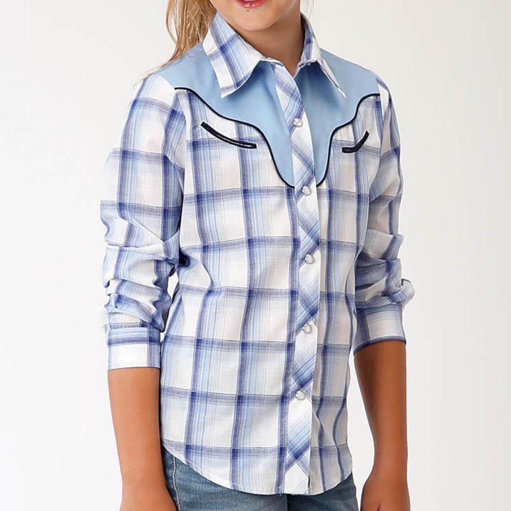 Navy/Blue/Wh Plaid L/S Shirt