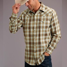 Dobby Twill Plaid L/S Shirt