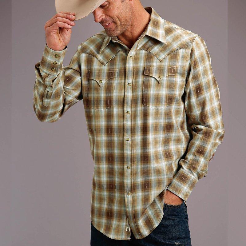Stetson | Dobby Twill Plaid Snap Shirt