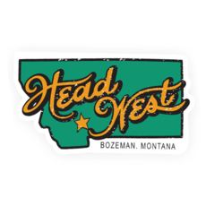 Head West Montana Bumper Sticker