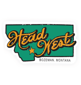 Head West Head West | Montana Bumper Sticker
