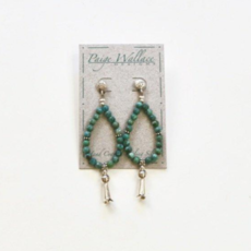 Paige Wallace | Squash Blossom Turquoise Earrings