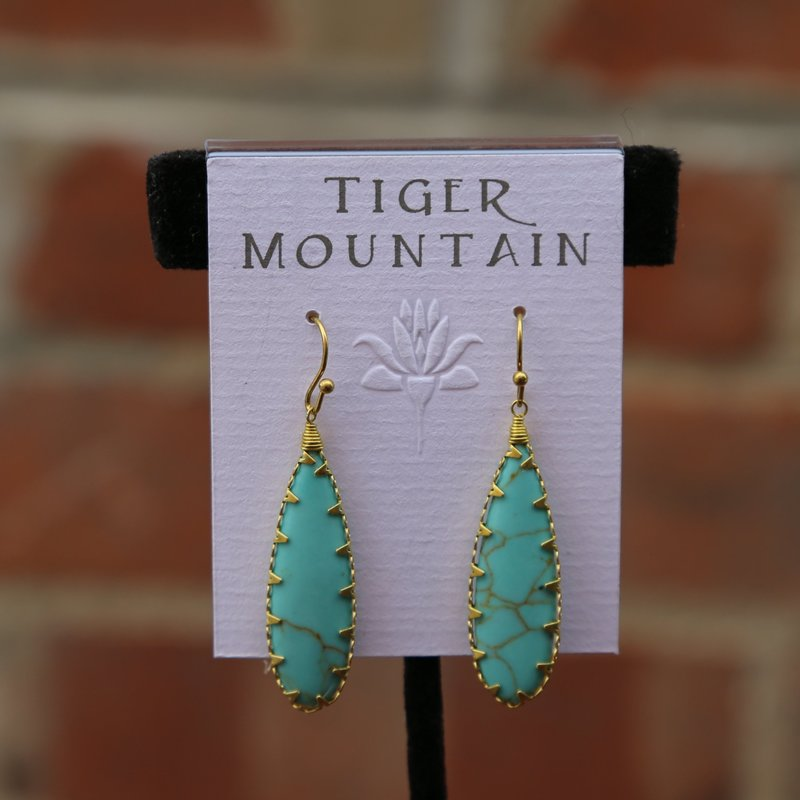 Tiger Mountain | Turquoise Dangle Earrings
