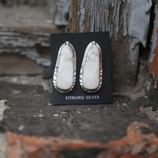 Sterling | White Buffalo Earrings