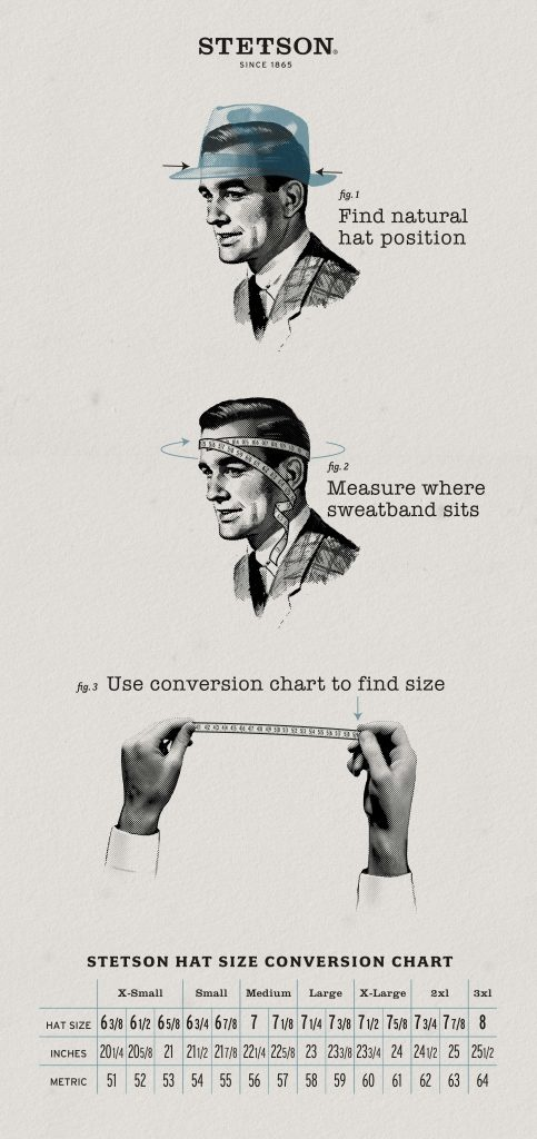 Stetson Hat Size Guide