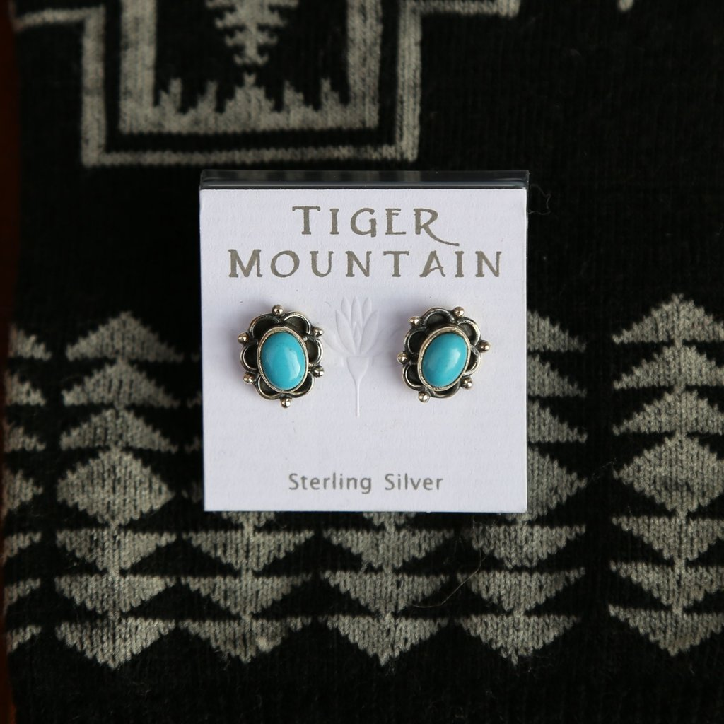 Turquoise Sterling Silver Stud Earrings
