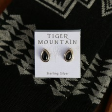 Onyx Sterling Silver Studs