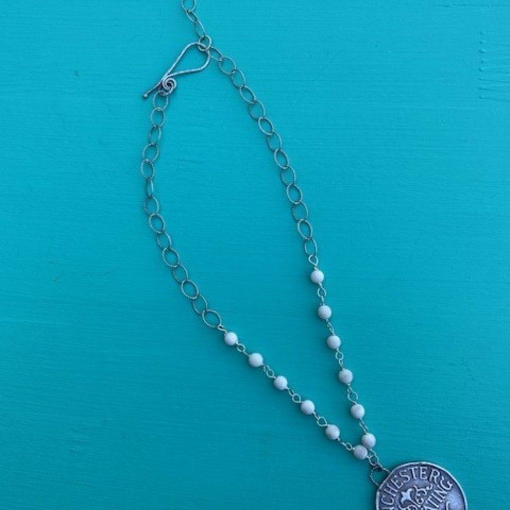 """Winchester Bison & Rope Link Necklace 17"""" Adj"""