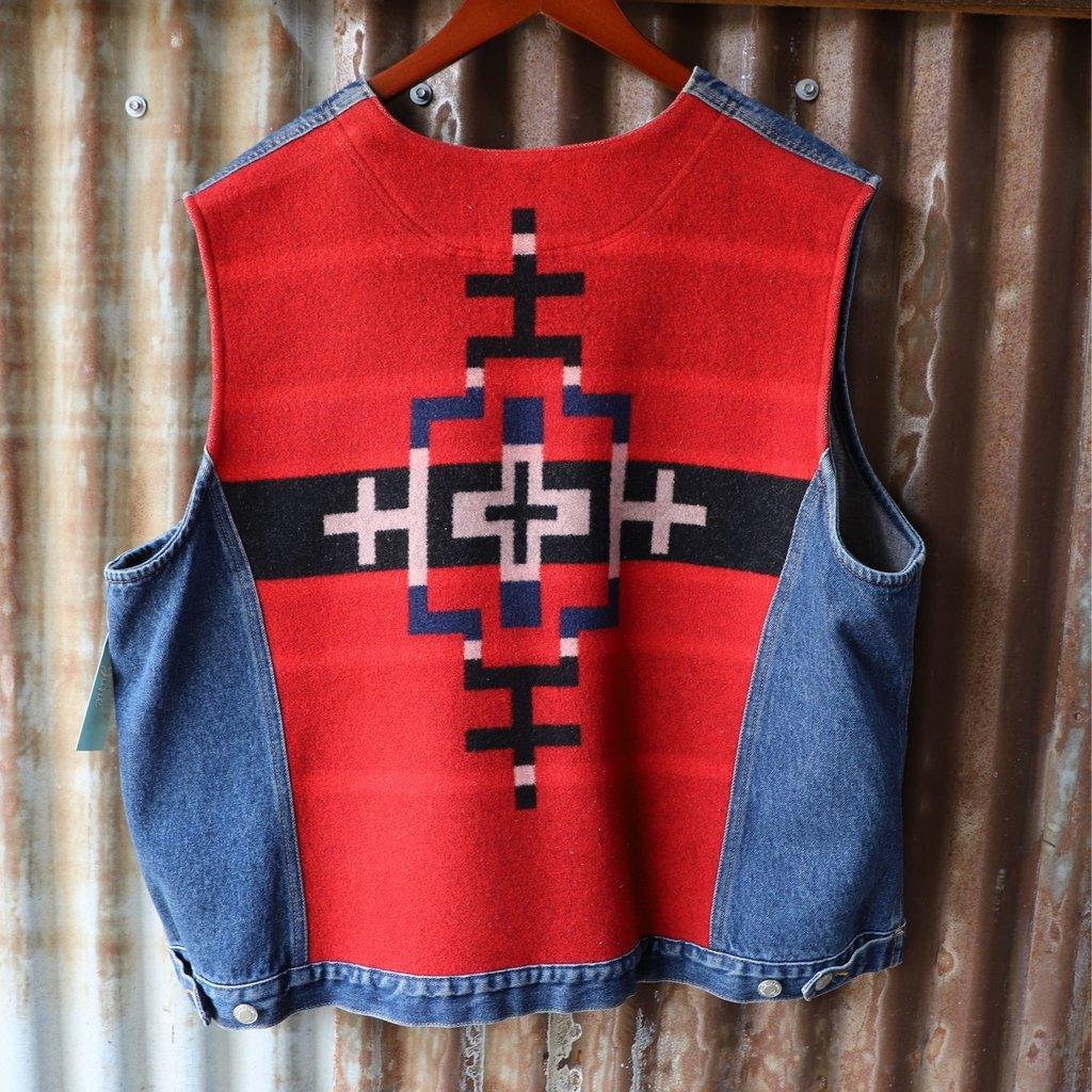 Vintage | Pendleton Wool/Denim Vest