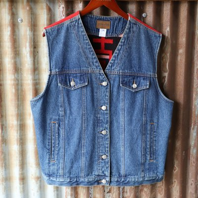 Vintage Pendleton Wool/Denim Vest