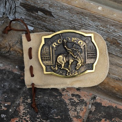 Vintage Brass 1973 Rodeo Buckle