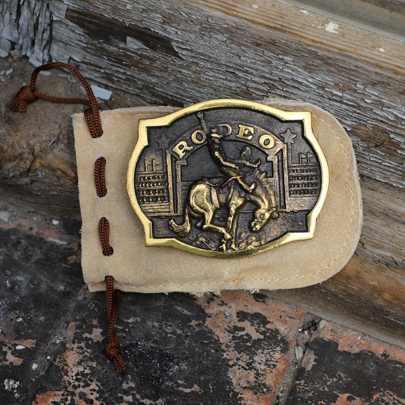 Vintage | Brass 1973 Rodeo Buckle