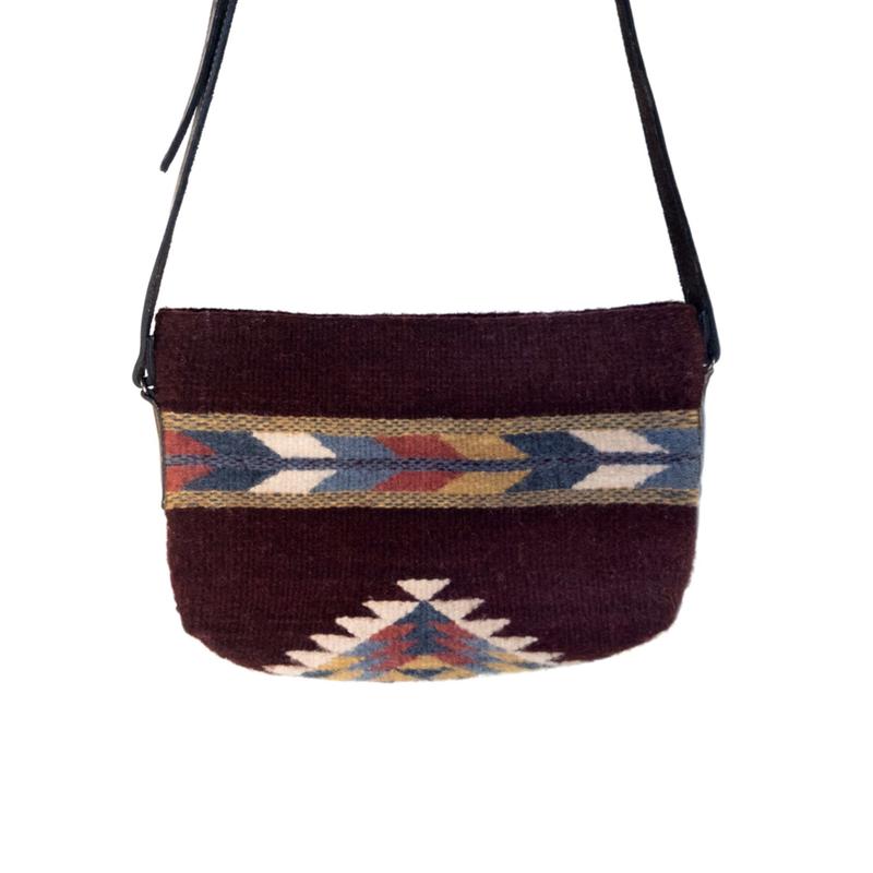 Manos Zapotecas | Crimson + Feather Crossbody Bag