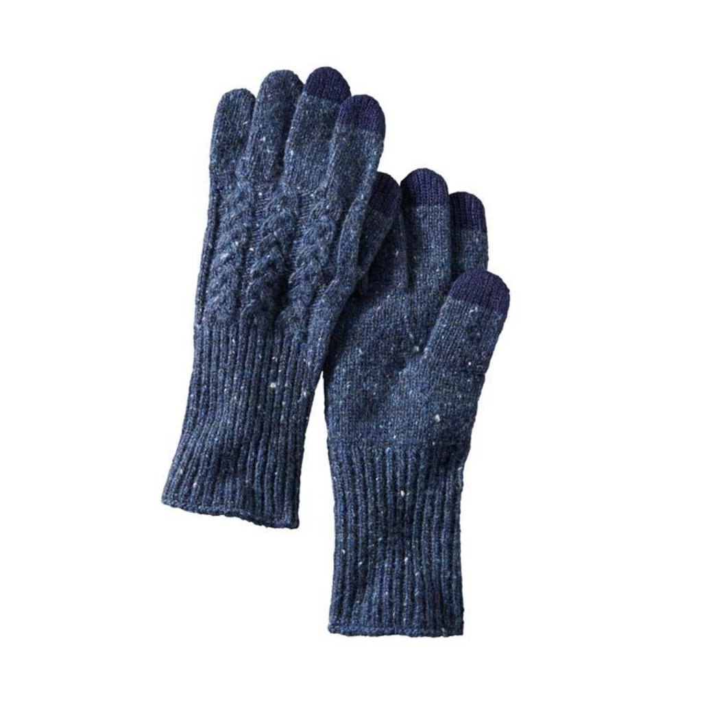 Pendleton Navy Cable Gloves
