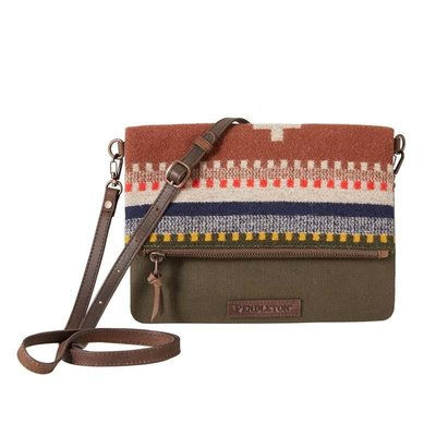 Pendleton Bridger Stripe Foldover Clutch