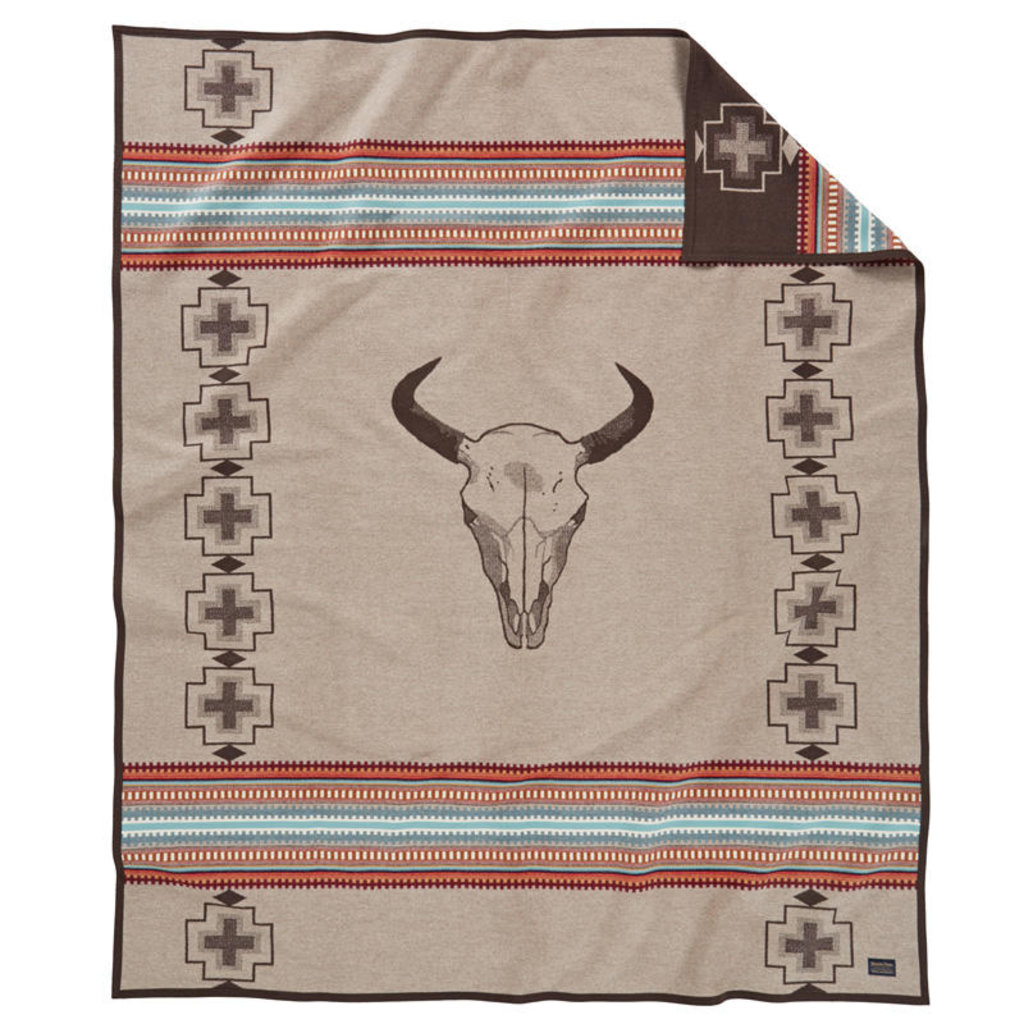 Pendleton Pendleton | Jacquard Unnapped Robe Blanket |  American West, Tan