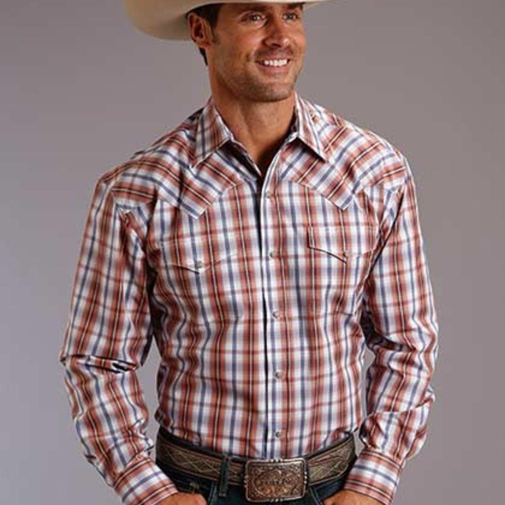 Roper | Desert Dobby Plaid Snap Shirt