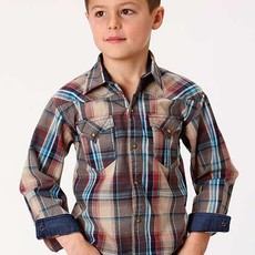 Roper | Kid's Dusk Plaid Snap Shirt