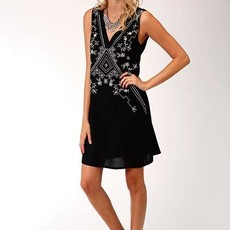 Roper | Black Rayon Sleeveless Dress
