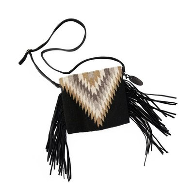 Manos Zapotecas Golden Diamond Fringe Bag
