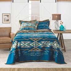Pendleton Pendleton | Jacquard Unnapped Robe Twin Blanket |  Star Watchers Blue