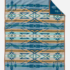 Pendleton Jacquard Unnapped Robe in Star Watchers Blue - Twin