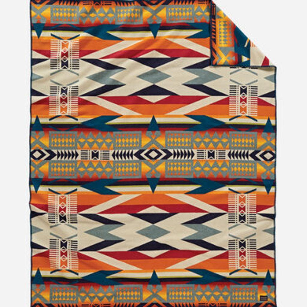 Pendleton Pendleton   Jacquard Unnapped Robe Blanket   Twin   Fire Legend Sunset