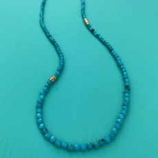 Larch Faceted Turq Necklace 26""