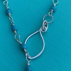 "Winchester Turq Chain Necklace 20"" Adj"
