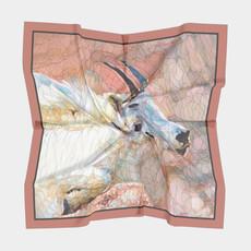 Impressionistic Photography | Montana Mountain Goats Square Silk Scarf