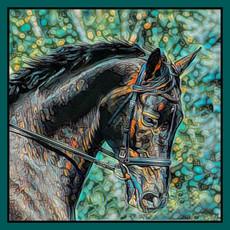Impressionistic Photography | Equestrian Square Silk Scarf