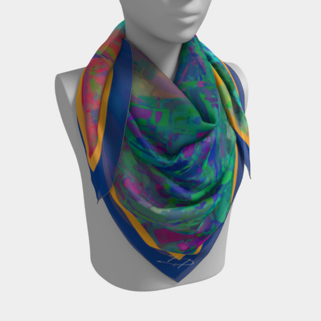Electric Bison Square Scarf