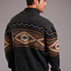 Wool Aztec Cardigan
