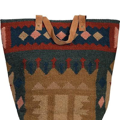 Woven Oval Base Handbag