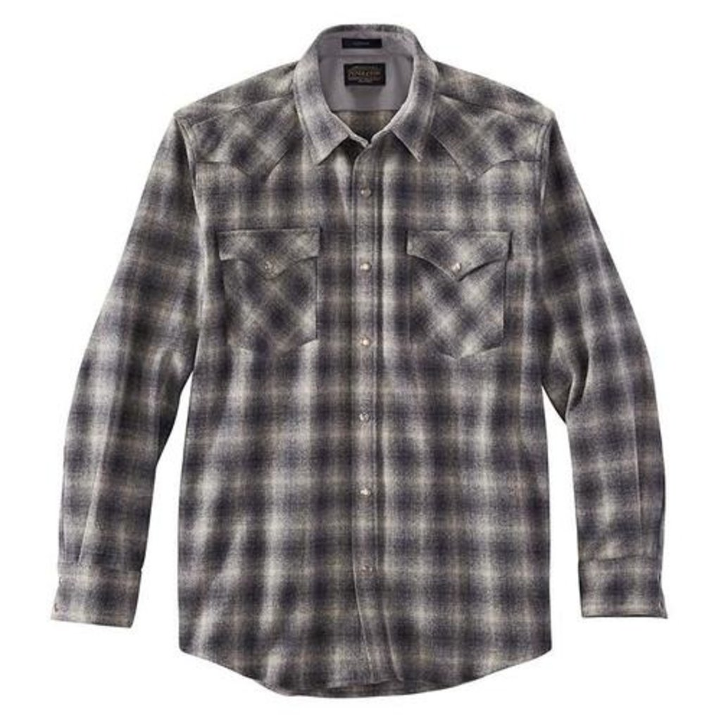 Pendleton Canyon Shirt in Tan/Grey Ombre Plaid