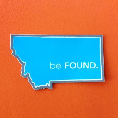 Be Found Sticker