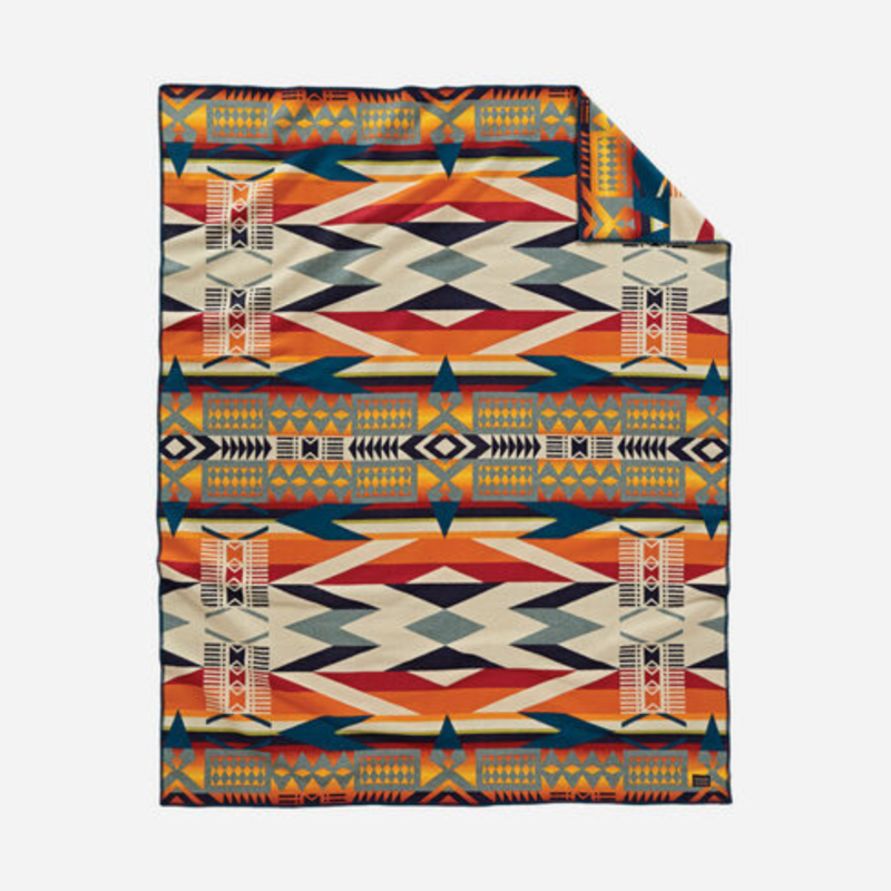 Pendleton Pendleton | Twin Jacquard Unnapped Robe Blanket |  Fire Legend Sunset